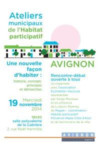 Atelier municipal Habitat participatif 19 nov 2014 AFFICHE