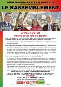 DEP2015 ISLE SORGUE Appel à voter