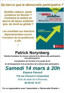 Patrick Norynberg 18 02 à Carpentras 14 mars 2015