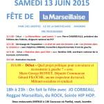 FÊTE DE LA MARSEILLAISE SAMEDI 13 JUIN 2015