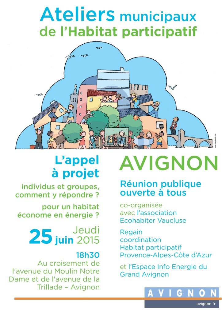 HABITAT PARTICIPATIF Atelier Municipal du jeudi 25 juin à 18h30 - Jolyjean Avignon -